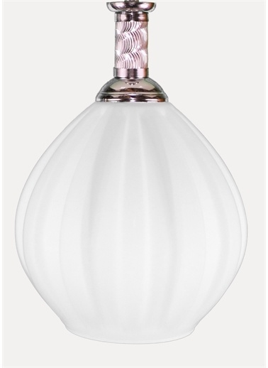 Şenay Aydınlatma Tekli Opal Cam Avize Sarkıt-Beyaz Beyaz